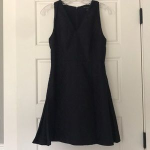 Navy blue formal pleated dress